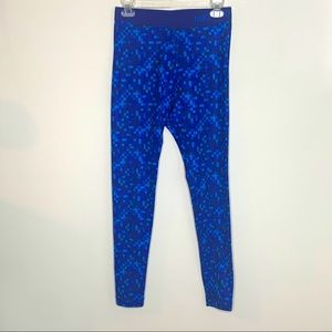 Nike Pro Dri Fit Blue Abstract Leggings Medium